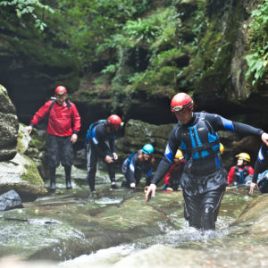 Walking against the current - Gorge Walking Yorkshire, How Stean Gorge