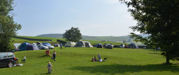 People enjoying Camping in Yorkshire at How Stean Gorge, Yorkshire Dales
