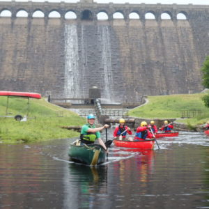 Canoeing with How Stean Gorge Outdoor Team in the Yorkshire Dales