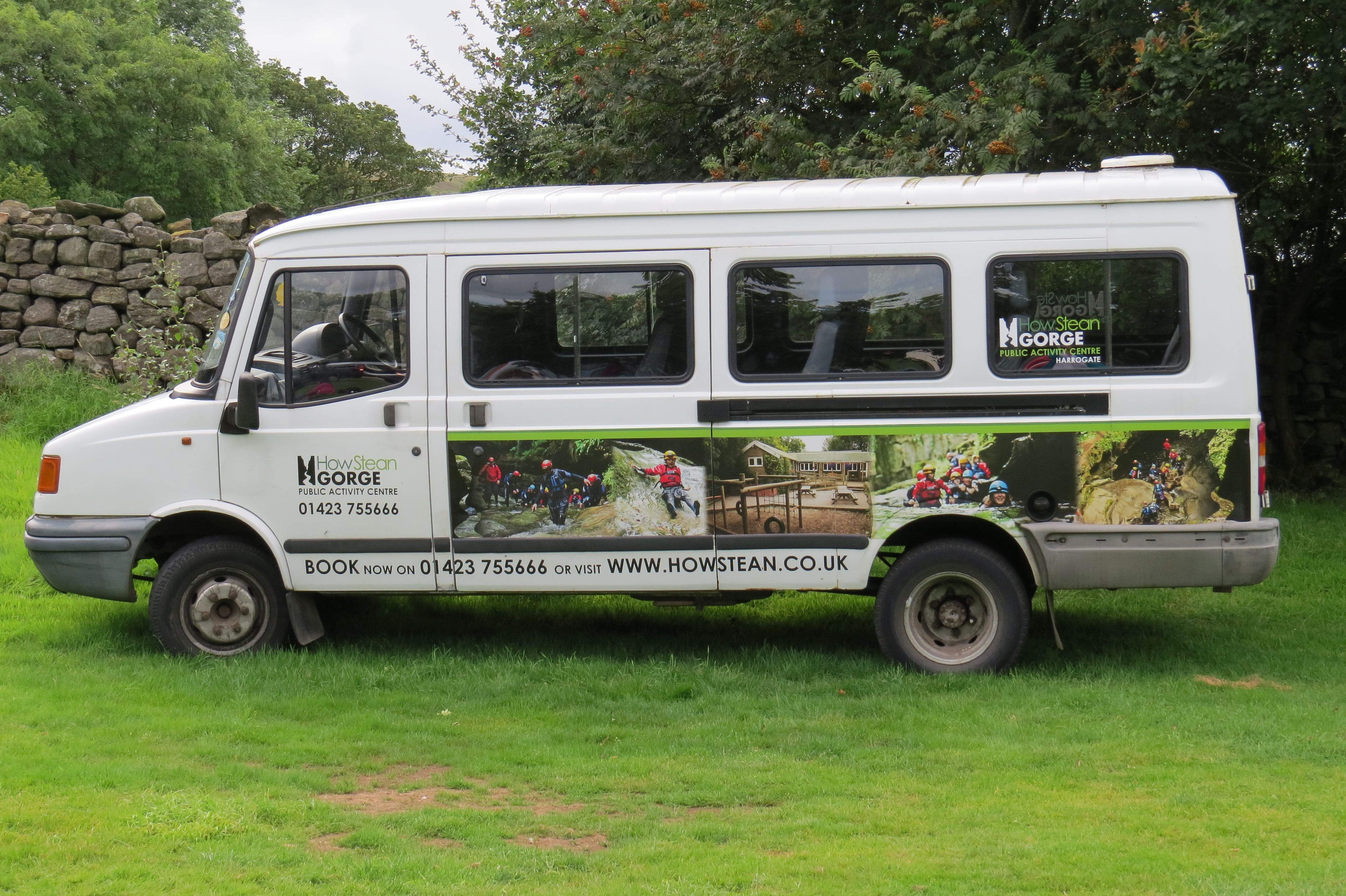 How Stean Gorge Minibus Hire in Yorkshire