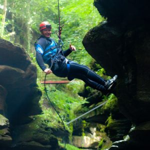 Abseiling at How Stean Gorge