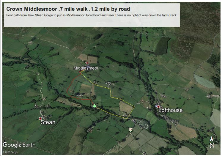 Route to Middlesmoor
